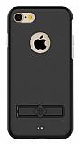 Totu Design Jaeger II iPhone 7 Standlı Alüminyum Siyah Kılıf