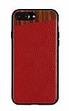 Totu Design Jazz Diagonal iPhone 7 Plus / 8 Plus Kırmızı Kılıf
