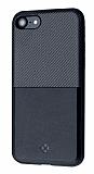 Totu Design Jazz Series Slot iPhone 7 / 8 Kartlıklı Siyah Rubber Kılıf