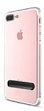 Totu Design Keen Series iPhone 7 Plus / 8 Plus Standlı Siyah Silikon Kılıf