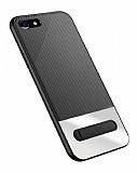 Totu Design King Series iPhone 7 / 8 Standlı Silver Rubber Kılıf
