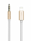 Totu Design Lightning 3.5mm Gold Aux Kablo 1m