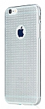 Totu Design Optic Texture iPhone 6 Plus / 6S Plus Silver Silikon Kılıf