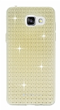 Totu Design Optic Texture Samsung Galaxy A7 2016 Gold Silikon Kılıf