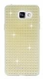 Totu Design Optic Texture Samsung Galaxy A7 2016 Gold Silikon Kılıf