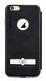 Totu Design Pleasure iPhone 6 / 6S Kapaklı Siyah Deri Kılıf