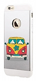 Totu Design Retro Minibus iPhone 6 Plus / 6S Plus Resimli Metal Kılıf