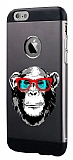 Totu Design Retro Monkey iPhone 6 Plus / 6S Plus Resimli Metal Kılıf