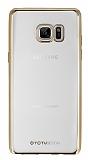 Totu Design Samsung Galaxy Note FE Gold Kenarlı Şeffaf Silikon Kılıf
