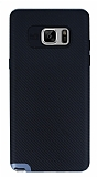 Totu Design Samsung Galaxy Note 7 Dark Silver Kenarlı Siyah Karbon Silikon Kılıf