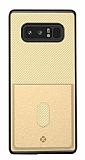 Totu Design Samsung Galaxy Note 8 Kartlıklı Gold Rubber Kılıf