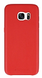 Totu Design Samsung Galaxy S7 edge Deri Görünümlü Kırmızı Rubber Kılıf