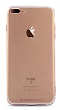 Totu Design Soft Series iPhone 7 Plus / 8 Plus Şeffaf Siyah Silikon Kılıf