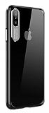 Totu Design Sparkling Series iPhone XS Max Silver Kamera Korumalı Şeffaf Rubber Kılıf