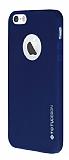 Totu Design Thin Tpu Serisi iPhone 5 / 5S Lacivert Silikon K�l�f