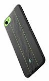 Totu Design Verti Color Series iPhone 7 / 8 Yeşil Çizgili Silikon Kılıf