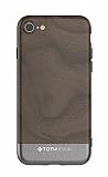 Totu Design Wood iPhone 7 / 8 Dark Silver Rubber Kılıf