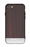 Totu Design Wood iPhone 7 / 8 Silver Rubber Kılıf