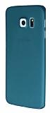 Totu Design Zero Serisi Samsung Galaxy S6 Edge Ultra �nce �effaf Ye�il Rubber K�l�f