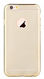 TotuDesign Frosted iPhone 6 / 6S Ultra �nce Metalik Gold Silikon K�l�f