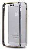 Totu Design iPhone 5 / 5S Metal Round Bumper Dark Silver K�l�f