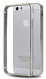 Totu Design iPhone 5 / 5S Metal Round Bumper Silver K�l�f