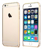 TotuDesign iPhone 6 / 6S Mellow Series Gold �izgili Bumper �er�eve Gold K�l�f