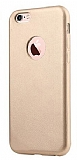 Totu Design iPhone 6 Plus / 6S Plus Gold Deri Kılıf