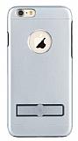 TotuDesign iPhone 6 Plus / 6S Plus Standl� Al�minyum Dark Silver K�l�f