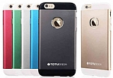 Totu Design Knight iPhone 6 / 6S Metal Siyah Kılıf