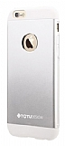 Totu Design Knight iPhone 6 Plus / 6S Plus Metal Silver Kılıf