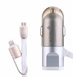 TotuDesign Silver Lightning & Micro USB Kablo + Ara� �arj Aleti