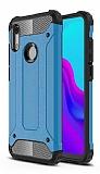 Tough Power Huawei Y6 2019 / Honor 8A Ultra Koruma Mavi Kılıf