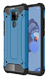 Tough Power Huawei Mate 30 Lite Ultra Koruma Mavi Kılıf