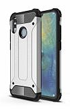 Tough Power Huawei P Smart 2019 Ultra Koruma Silver Kılıf