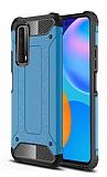Tough Power Huawei P Smart 2021 Ultra Koruma Mavi Kılıf