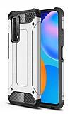 Tough Power Huawei P Smart 2021 Ultra Koruma Silver Kılıf