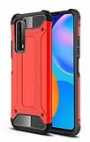 Tough Power Huawei P Smart 2021 Ultra Koruma Kırmızı Kılıf