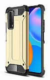 Tough Power Huawei P Smart 2021 Ultra Koruma Gold Kılıf
