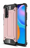 Tough Power Huawei P Smart 2021 Ultra Koruma Rose Gold Kılıf