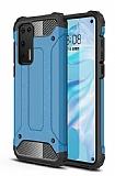 Tough Power Huawei P40 Ultra Koruma Mavi Kılıf