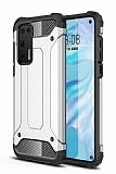Tough Power Huawei P40 Ultra Koruma Silver Kılıf