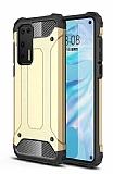 Tough Power Huawei P40 Ultra Koruma Gold Kılıf