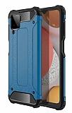 Tough Power Samsung Galaxy M12 Ultra Koruma Mavi Kılıf