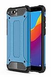 Tough Power Huawei Y6 2018 Ultra Koruma Mavi Kılıf