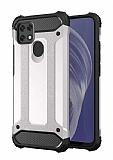 Tough Power Oppo A15 Ultra Koruma Silver Kılıf