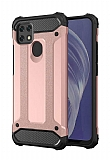 Tough Power Oppo A15 Ultra Koruma Rose Gold Kılıf