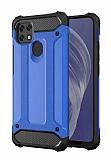 Tough Power Oppo A15 Ultra Koruma Mavi Kılıf