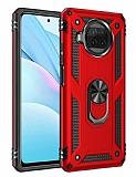 Eiroo Magnet Ring Xiaomi Mi 10T Lite 5G Ultra Koruma Kırmızı Kılıf
