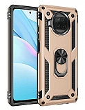 Eiroo Magnet Ring Xiaomi Mi 10T Lite 5G Ultra Koruma Gold Kılıf